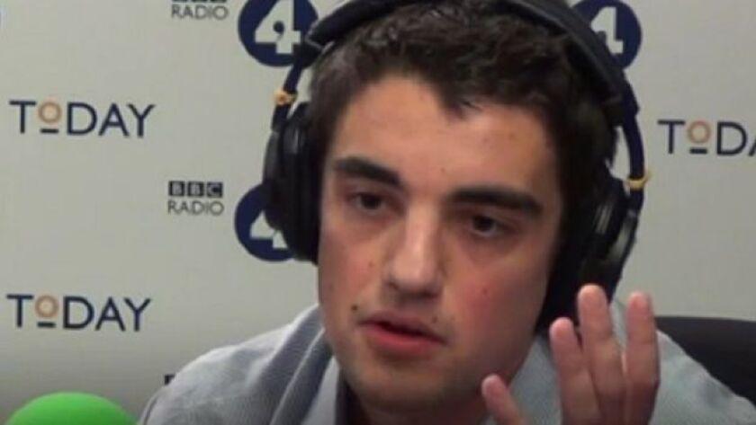 William Broadway contó en el programa Today de la BBC que sus intereses son altruistas.