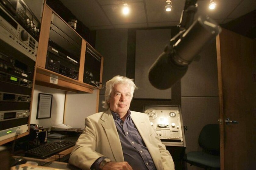 KPFK host Ian Masters at the listener-sponsored station's North Hollywood studio.