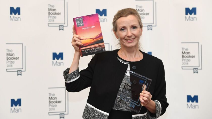 Anna Burns wins the Man Booker Prize for fiction in London, United Kingdom - 16 Oct 2018