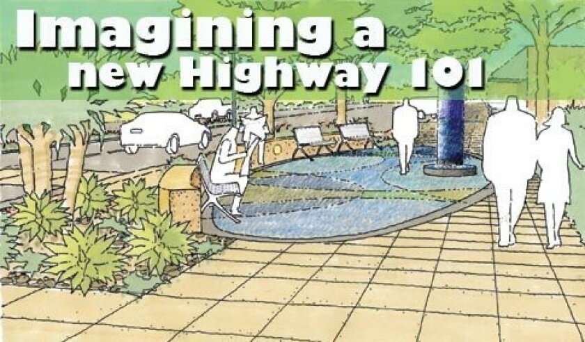 Eleven gathering areas are a major component of the Highway 101 West Wide Improvements Project. Courtesy rendering