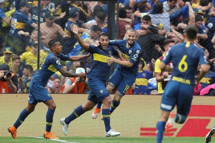 En la imagen, un registro de otra actuación de los jugadores de Boca Juniors. EF/Archivo