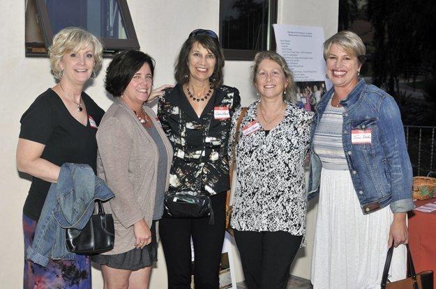 Board members Carrie Pickwell and Annie Johnson, Donna Lebert, board member Lorrin Boyer, Tricia Tellefsen