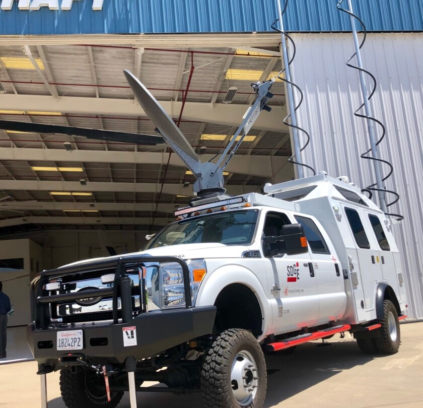 SDG&E recently bought a Tactical Command Vehicle for about $600,000 to help first responders in the field in the event of a wildfire.