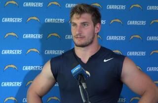 Joey Bosa at voluntary minicamp with Chargers
