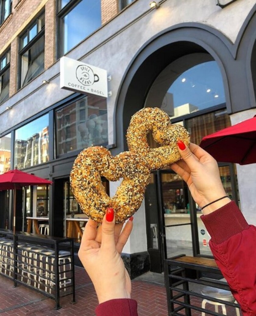 Heart-shaped bagels
