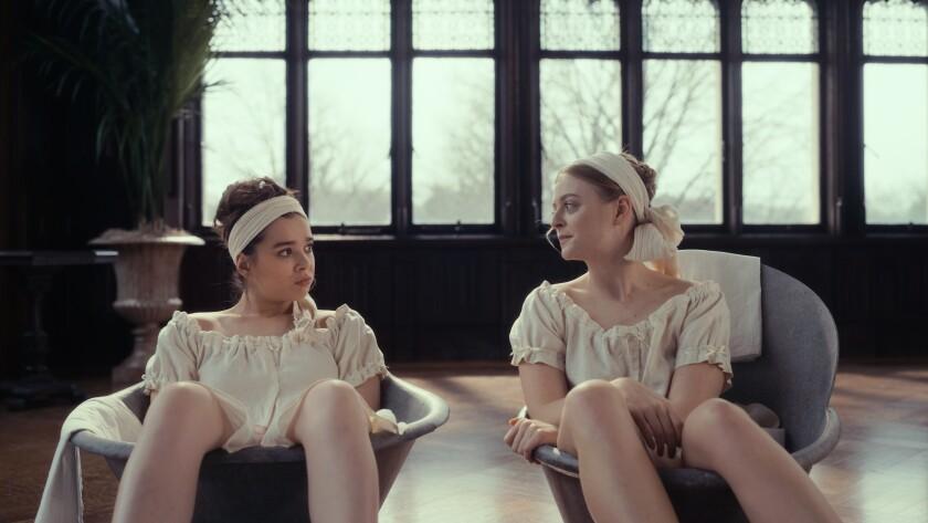 "Hailee Steinfeld and Anna Baryshnikov in Season 2 of ""Dickinson."""