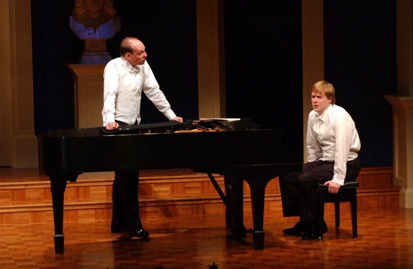 """Carl Danielsen and Mark Anders star in """"2 Pianos 4 Hands."""" Denver Center Theatre Company"""