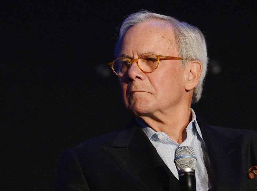 """""""I get to have my name on the building, but journalism and broadcasting is really a team effort,"""" said Tom Brokaw, who has covered some of the biggest news stories of the time."""