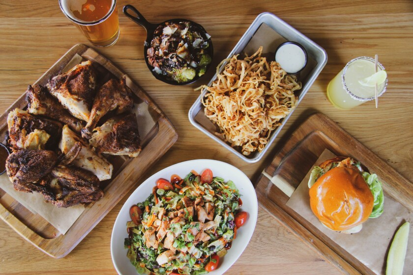 A selection of family-style dishes at the new WR Kitchen & Bar in Carlsbad's Bressi Ranch.