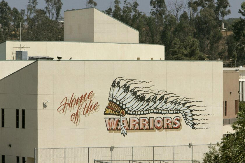 Fallbrook, whose athletic teams are known as the Warriors, is one of five high schools in San Diego County with Indian nicknames.