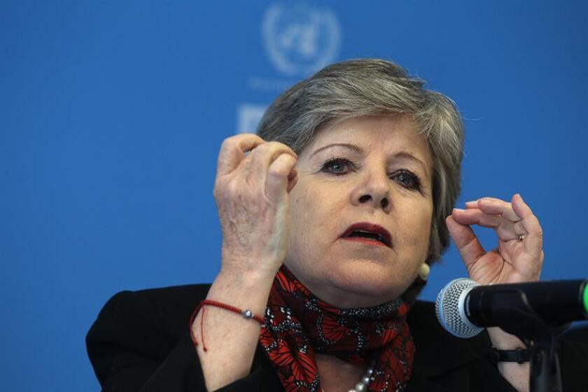 La secretaria ejecutiva de la Comisión Económica para América Latina y el Caribe (Cepal), Alicia Bárcena. EFE/Archivo