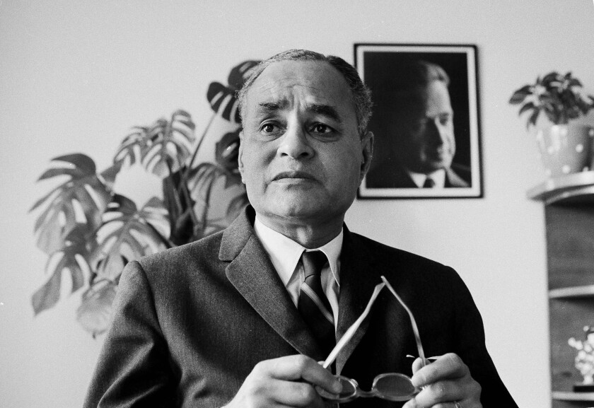 Ralph J. Bunche during an interview in 1963