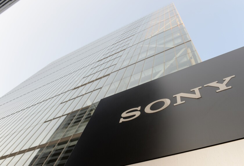 Sony's headquarters in Tokyo. An activist investor is urging the company to spin off its entertainment unit.