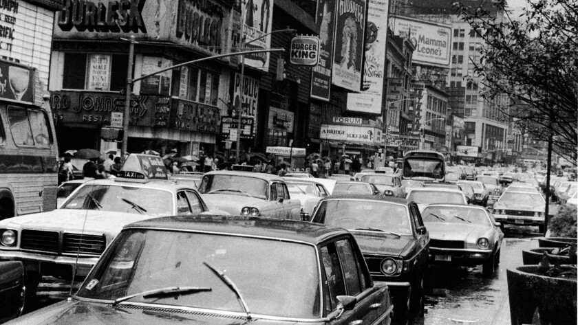 Times Square in 1977.