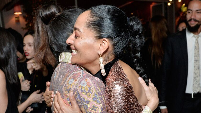 Salma Hayek, left, Tracee Ellis Ross at the event.