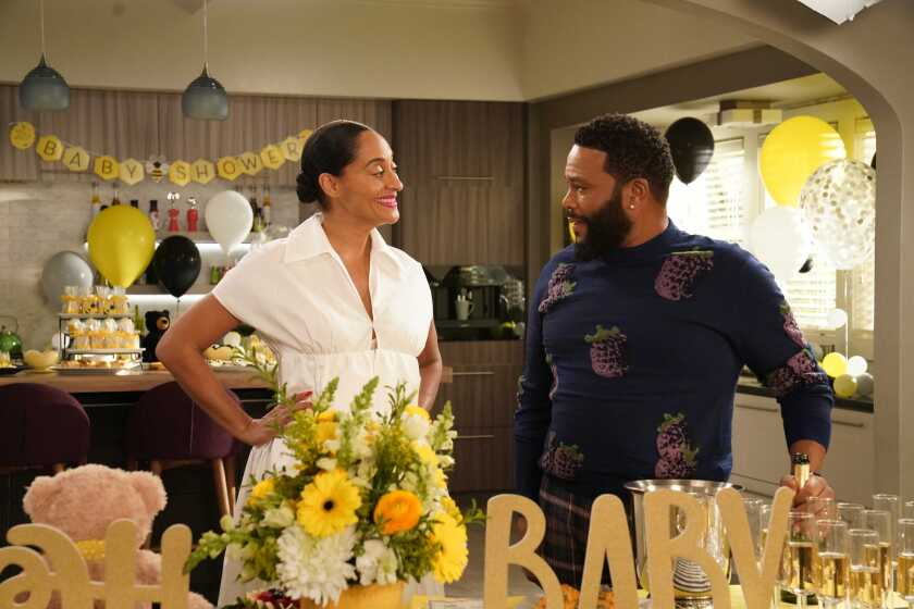 """Tracee Ellis Ross and Anthony Anderson in ABC's """"black-ish."""""""