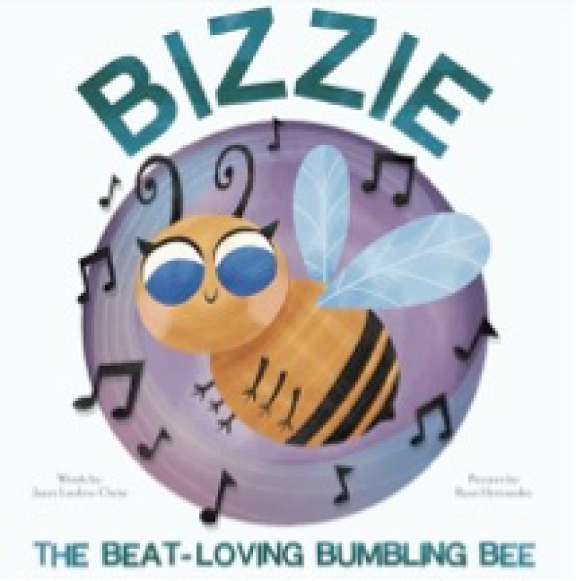 The cover of Bizzie: The Beat-Loving Bumbling Bee