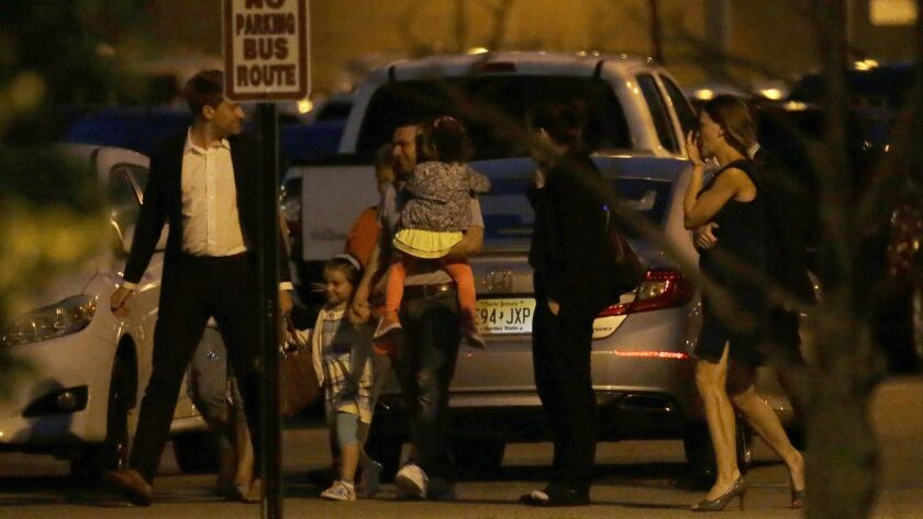 Pablo Villavicencio, center, with his family after his release from the Hudson County Correctional Facility in Kearny, N.J., on July 24.