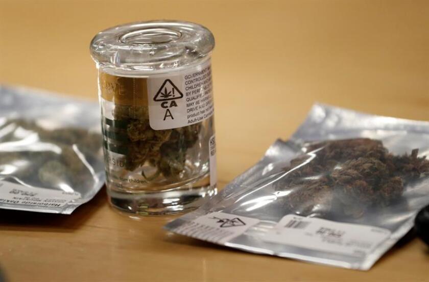 Vista de productos a la venta en un dispensario de cannabis. EFE/Archivo