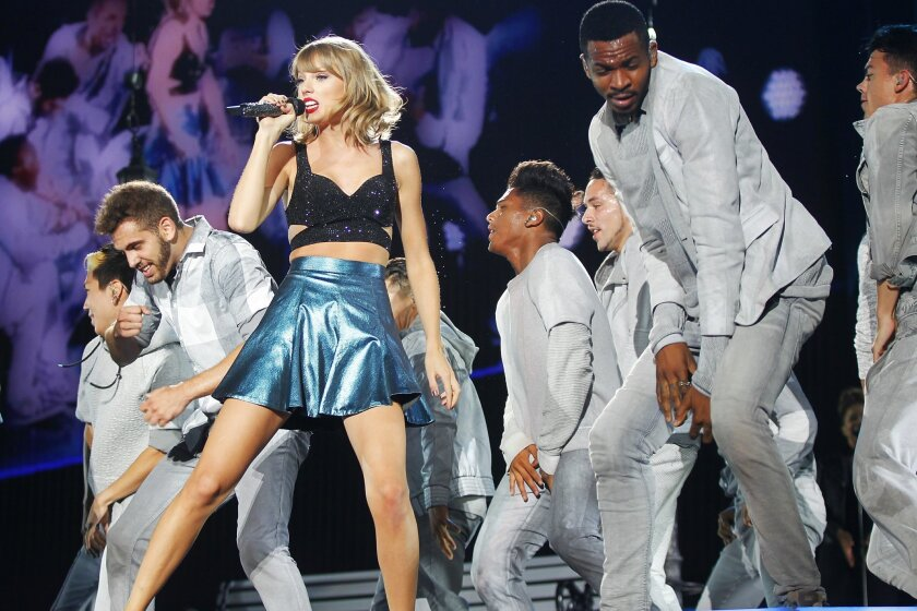 Taylor Swift performs during her 1989 World Tour at Petco Park.
