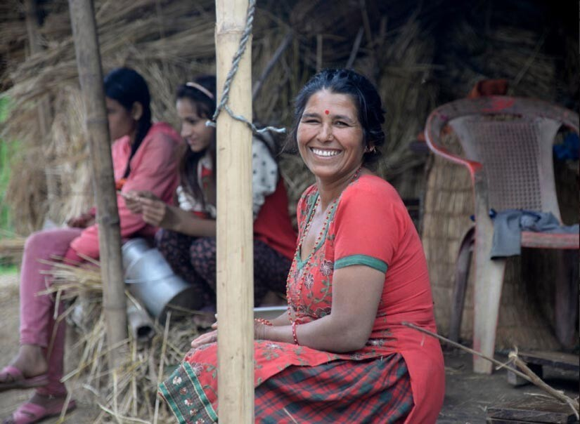 """Photographer Jay Poudyal, 35, started Stories of Nepal two years ago and has continued through the earthquake. He photographed and quoted this woman in Tinpiple, outside Katmandu: """"There is no other choice than to endure. No other choice than to somehow survive and no other choice than to be for someone else. There is no other choice than to hope. No other choice than to cry and regret and no other choice than to sit and laugh."""""""