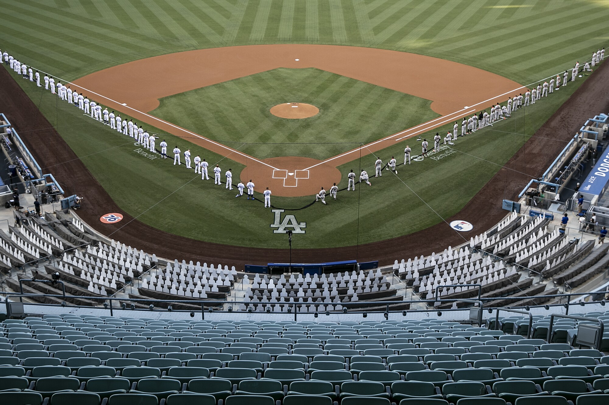 dodger game yesterday recap MLB Opening Day 2: Dodgers defeat Giants 2-2 in opener - Los