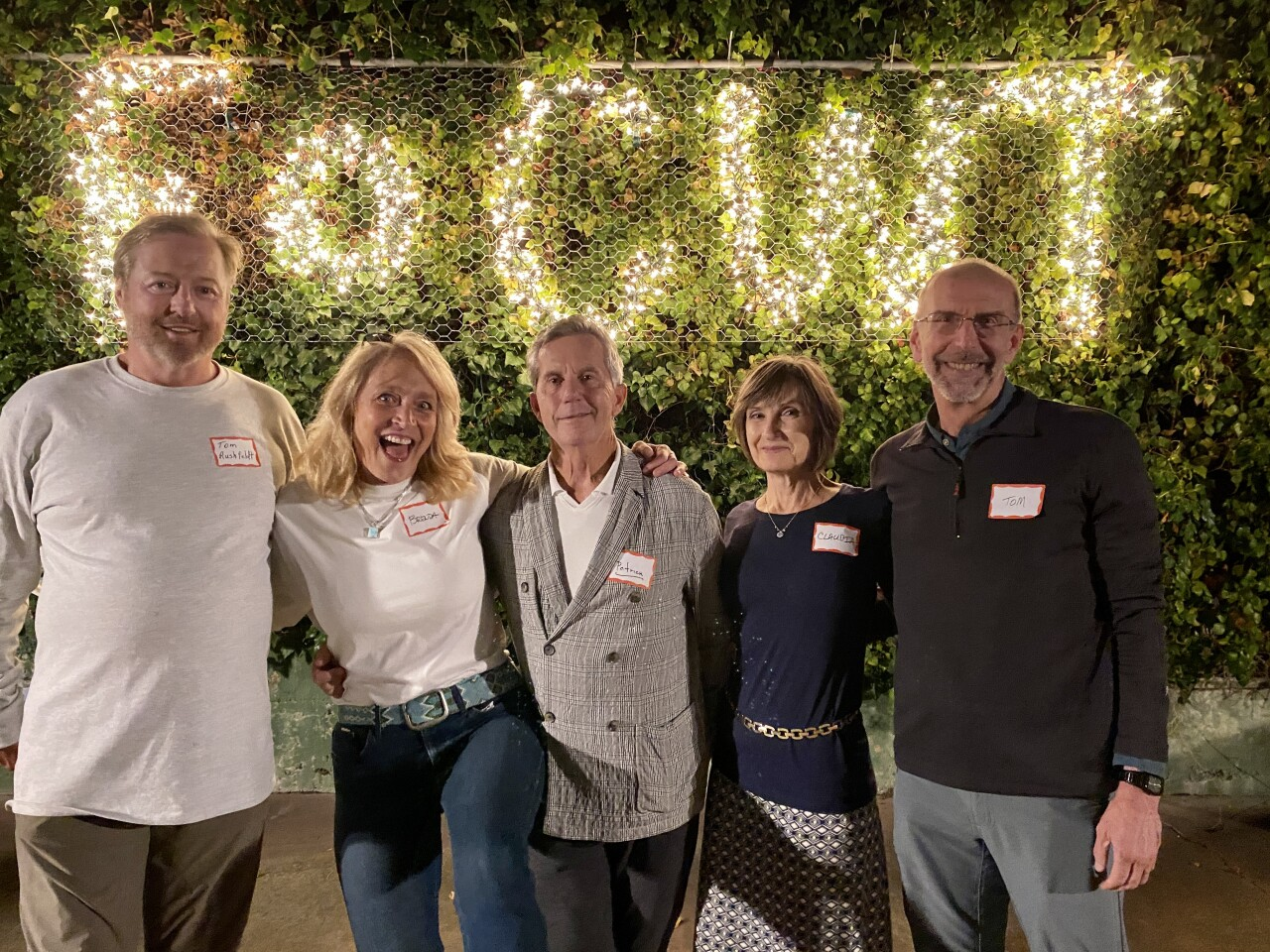 Tom Rushfeldt, Brenda Fake, Patrick Ahern, Claudia Baranowski and Tom Horvath