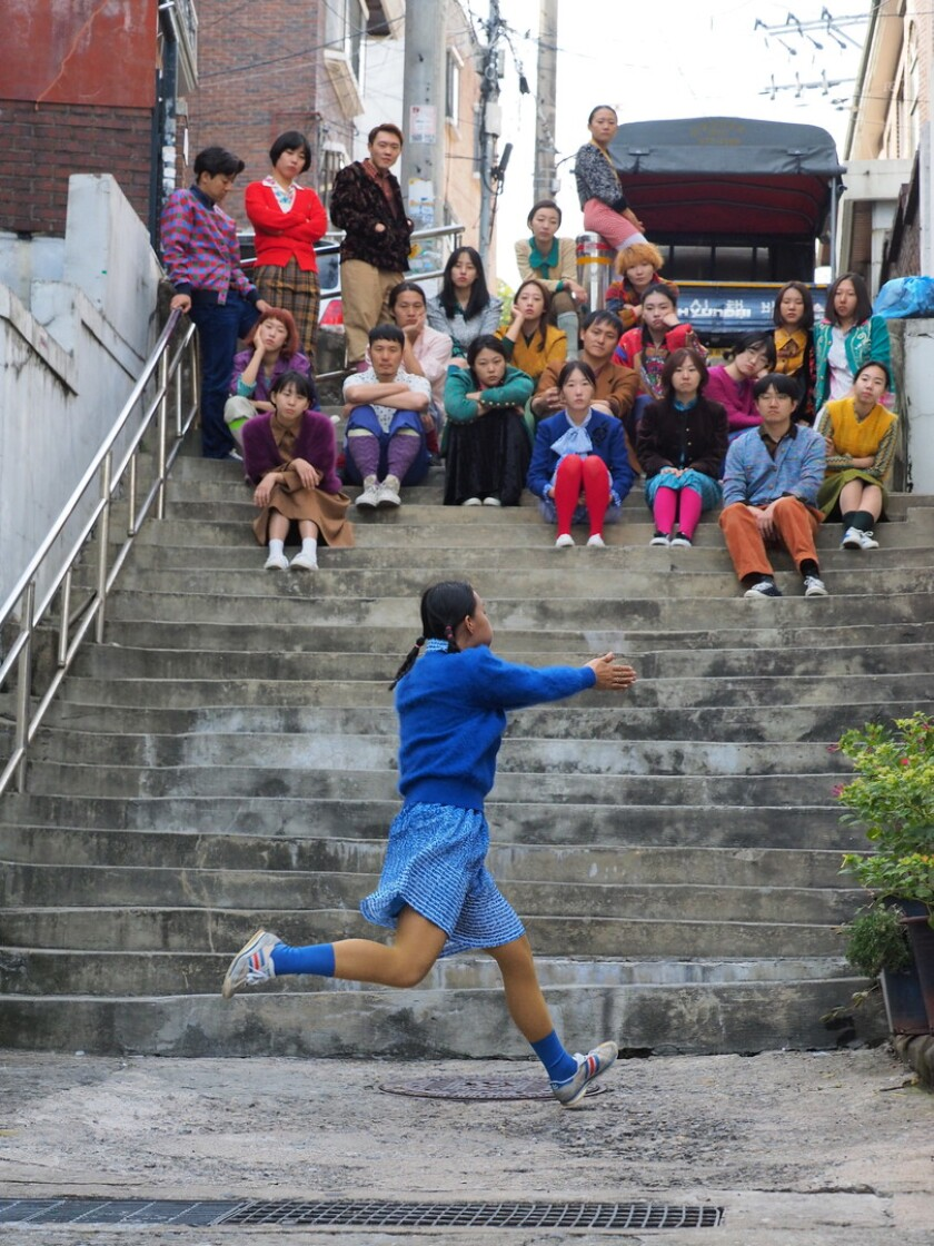 """Choreographer-director Song Joowoo's awesomely bizarre """"A Town with a Blue Hill"""" is one of the finalists at the Dance Camera West film festival Jan. 9-12 in Downtown Los Angeles."""
