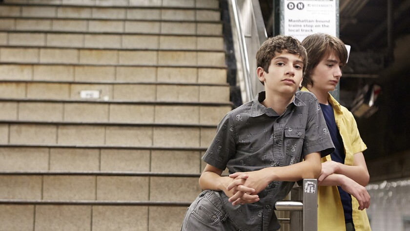"Michael Barbieri, left, and Theo Taplitz in the movie ""Little Men."""