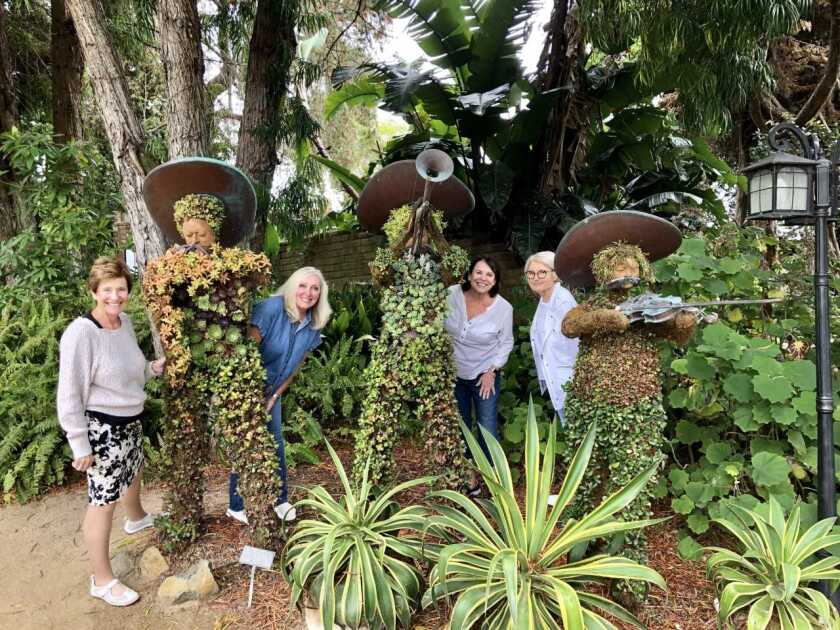The Carlsbad Newcomers Club Garden Group recently visited the San Diego Botanic Garden in Encinitas. The club hosts a Garden Group as one of its special interest activity groups for members. The club holds regular coffee meetings open to the public with educational presentations and features more than 20 activity groups that are led by members. From left: Celia Best, DeAna DiGioia, Kathleen Constantine and Adela Kostich. Visit carlsbadnewcomers.org.