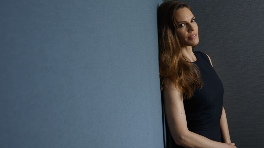 LOS ANGELES,CA --FRIDAY, MARCH 23, 2018--Two-time Academy Award-winning actress Hilary Swank, is pho