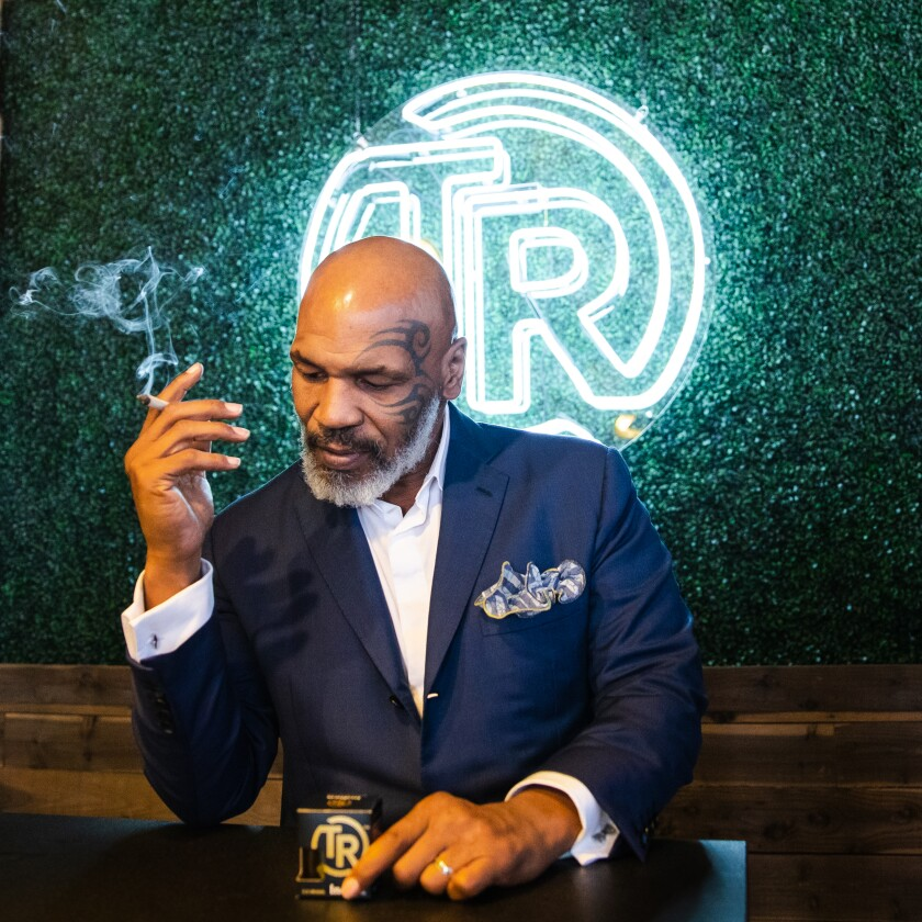 Mike Tyson has his own marijuana line called Tyson's Ranch.