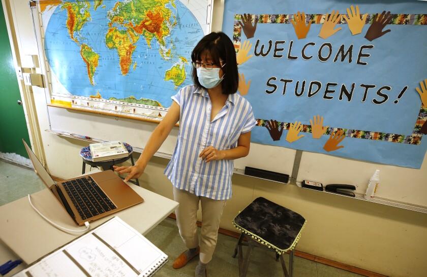 History teacher Alice Lee at Eagle Rock Jr./Sr. High School.