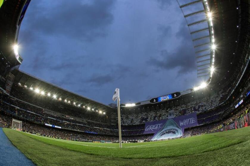 Vista general del Estadio Santiago Bernabéu. EFE/Archivo