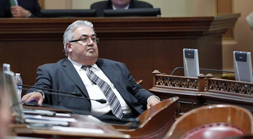 State Sen. Ron Calderon during the first Senate session of the new year at the Capitol in Sacramento in January.