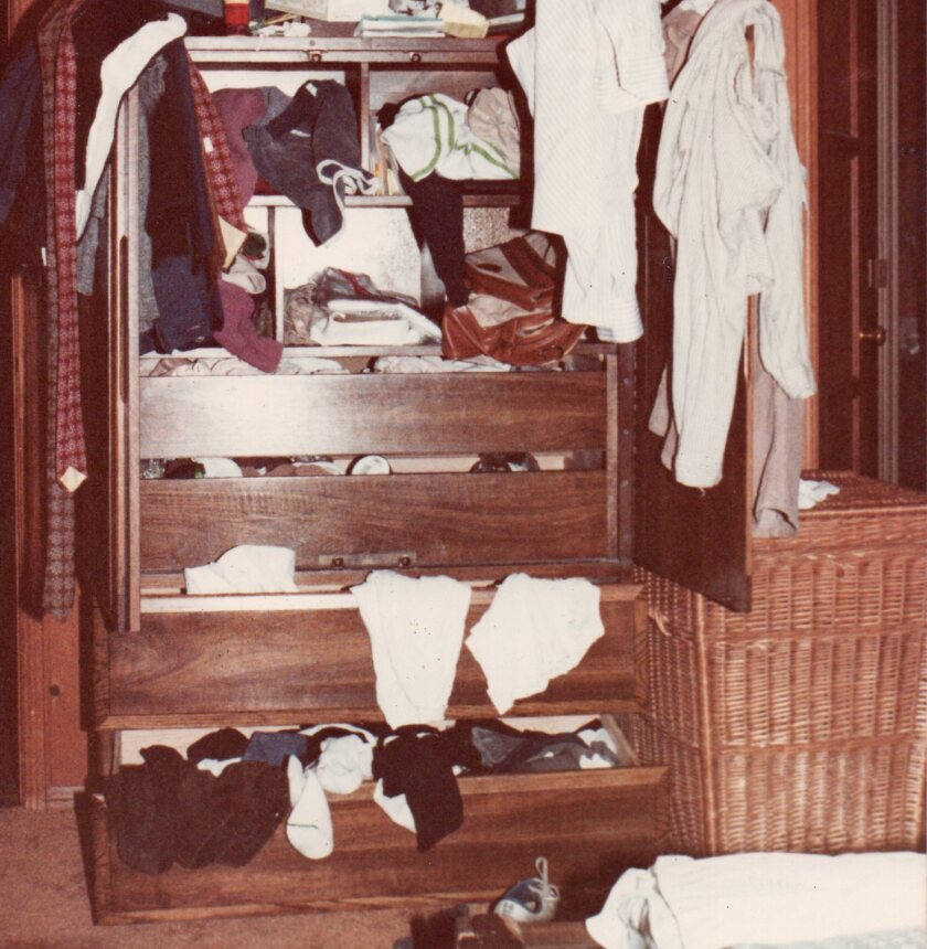 My first husband Fred's armoire, 1981. I had plenty of warning. — Inga