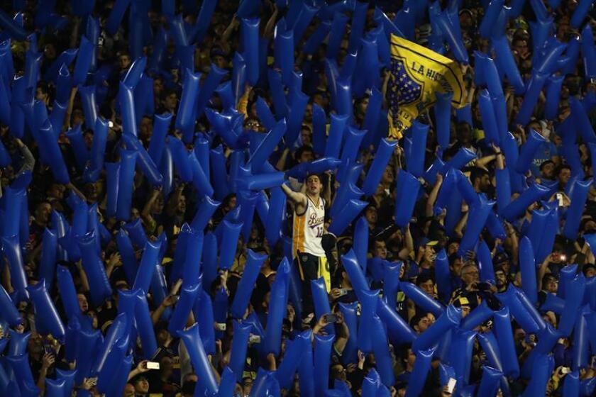 Archive photo of sept. 19, 2018 of the Boca Juniors fans at a match against Cruzeiro for the Copa Libertadores at La Bombonera stadium in Buenos Aires (Argentina). EPA-EFE FILE/Juan Ignacio Roncoroni