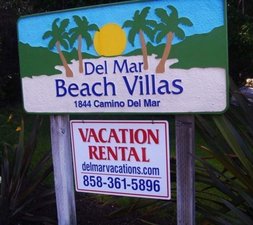 Del Mar has placed a 45-day moratorium on new short-term vacation rentals.