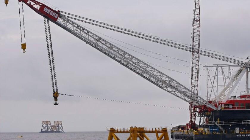 Offshore wind turbine in Rhode Island