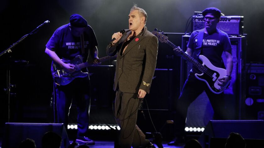 Morrissey, seen performing at the Hollywood Bowl in 2017, is heading to Broadway.