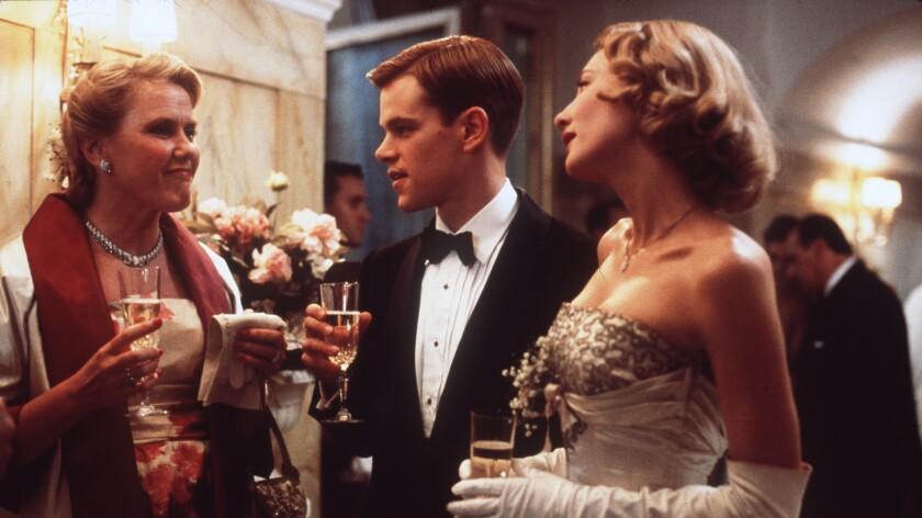 """Matt Damon plays Tom Ripley alongside Cate Blanchett in """"The Talented Mr. Ripley."""""""