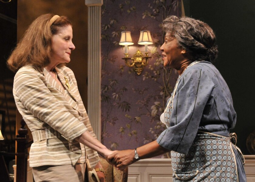 """Hallie Foote (left) and Pat Bowie in the Old Globe Theatre's production of Horton Foote's """"Dividing the Estate."""""""