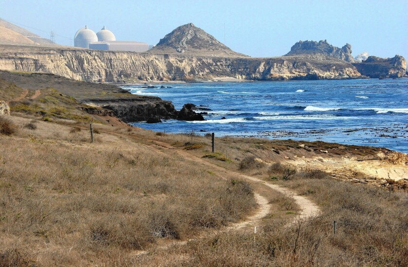 PG&E's Diablo Canyon nuclear power plant on the San Luis Obispo County coast is three miles from a quake fault.