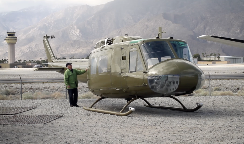 """Take Me Home Huey"" documents Rancho Santa Fe artist Steve Maloney turning a helicopter from the Vietnam War into a work of art."