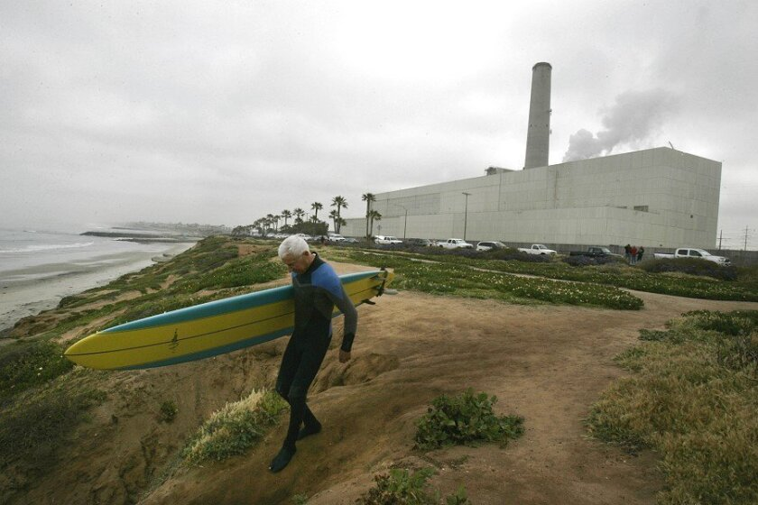The Encina Power Station is a community icon or an eyesore, depending on your point of view. Its 400-foot smokestack towers over the coast.