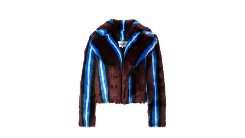 Diane Von Furstenberg. Faux Fur coats for Image section essentials.