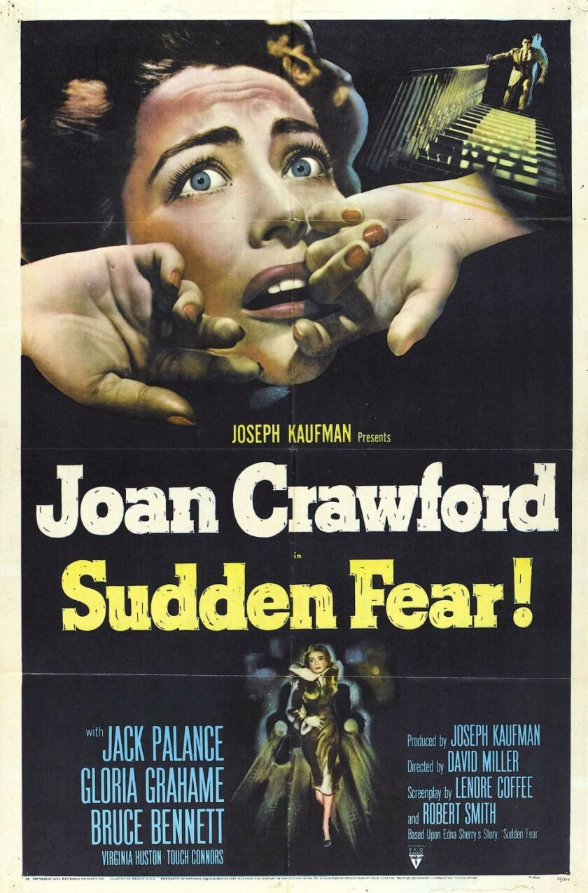 'Sudden Fear' screens 7:30 p.m. Aug. 29 at Athenaeum Music & Arts Library