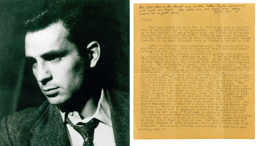 Jack Kerouac and letter