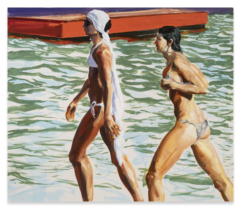 """""""A Surprising Sense of Urgency"""" by Eric Fischl, 2019. Oil on linen, 62 by 72 inches."""