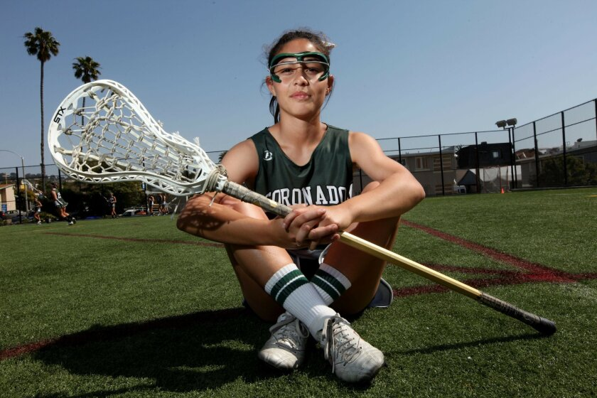 Coronado senior Michaela Guerrera has helped the Islanders girls lacrosse team go undefeated and earn a No. 1 ranking in California by WestSideLax.com.